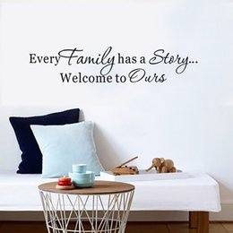 $enCountryForm.capitalKeyWord Australia - Every Family Has A Story Welcome To Ours Quote Vinyl Home Decor Wall Stickers Home Decor Living Room