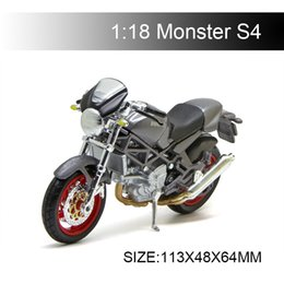 diecast motorcycles Australia - 1:18 Motorcycle Models Ducati S4 Diecast Plastic Moto Miniature Race Toy For Gift Collection