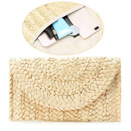 $enCountryForm.capitalKeyWord Australia - Fashion Lady Summer Lovely Retro Straw Knitted Handbag For Key Money Beach Long Bag Clutch Women Retro Beach Holiday Bag