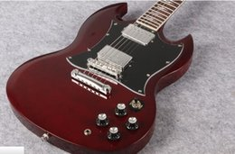 ac guitar NZ - Best seller Angus Young Guitar AC DC Inlaids Cherry Red Dark rosewood Fretboard Guitars free shipping