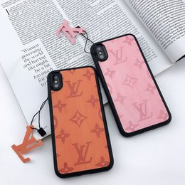 Designer iphone online shopping - luxury designer phone cases for iphone plus PU leather Fashion Models Phone Back Cover for samsung galaxy S8 S9 NOTE9