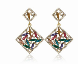 noble low price high quality diamond crystal lady's earings 7.3dfd