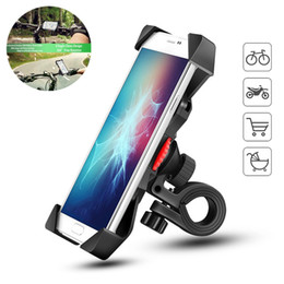 motorcycle cell phone charger 2019 - 360° Bicycle Motorcycle Bike Phone Mount Holder with USB Charger for Cell Phone Nylon elastic fixed ring Automatic Locki