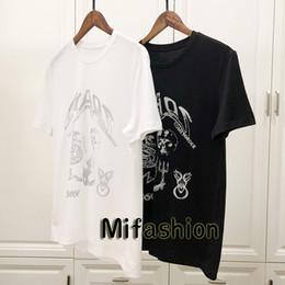 7b5883cef41 19ss Luxury Europe Paris Vintage Print High Quality Chaos Skull Tshirt  Fashion Mens Designer t shirts Women Clothes Casual Cotton Tee Top