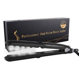 Coating Ceramics Australia - TAMAX HS002 Professional 450F Ceramic Vapor Hair Straightener Argan Oil Steam Flat Iron With Gorgeous Packing Fast Heating Iron