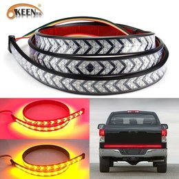 "led bar signal car NZ - OKEEN Waterproof 59"" Car Truck LED Strip Tailgate Light Bar Flowing Turn Signal Running Braking Strip Light For Pickup SUV"