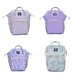 summer waterproof diapers 2019 - Fashion Cartoon Travel Storage Backpack Large Capacity Bag Mummy Baby Multi-function Waterproof Outdoor Travel Diaper Ba