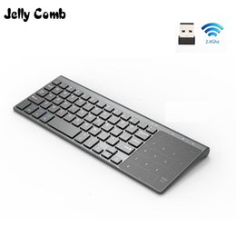 thinnest windows laptop NZ - Computer & Office Jelly Comb 2.4G Wireless Keyboard with Number Touchpad Thin Numeric Keypad for Android Windows Desktop Laptop PC TV Box