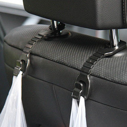 car seats clothes 2019 - 2PCS Multi-functional Car Seat Headrest Hook for Bags Organizer Holder Clothes hanger Car styling Auto Accessories cheap