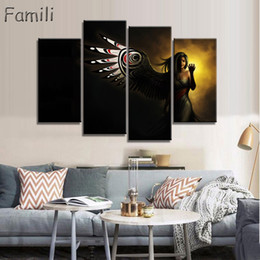 $enCountryForm.capitalKeyWord NZ - 4Panel large HD printed oil painting Angel Girl canvas print art home decor idea wall art pictures for living room