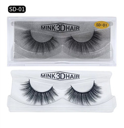 fiber lash extensions NZ - 3D Mink Eyelashes Messy Eye lash Extension Sexy Eyelash Full Strip Eye Lashes By chemical fiber