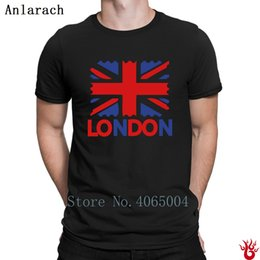top london t shirts UK - London Text Uk Flag T-Shirt Letters S-3xl Hiphop Tops Cotton Tshirt For Men Summer Humor Loose Novelty Designing
