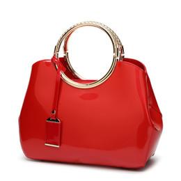 $enCountryForm.capitalKeyWord Australia - Nice2019 Ma'am Chao Kai Handbag Patent Woman Package Hand Single Shoulder Satchel All-match Bright A Leather Bag