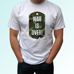 $enCountryForm.capitalKeyWord Australia - War Is Over white t shirt dog tag top peace tee mens womens kids baby sizes Funny free shipping Unisex Casual Tshirt top