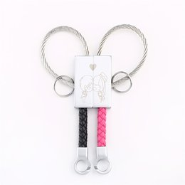 Heart Shaped Chains For Couples UK - Fashion Jewelry Chains Milesi Pairs Of Couple Keychain Creative Heart-shaped Car Key Ring Men And Women Key Pendants Fashion Gift For