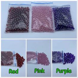 Oil Red Bongs Australia - Beracky 6mm Quartz Terp Dab Pearls Pink Red Purple Quartz Terp Pearls Ball Insert For Quartz Banger Nails Glass Beaker Bongs Oil Rigs