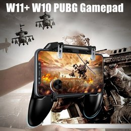 Discount free game android - W11+ 4-in-1 Multi-Function Game Controller W10 PUGB Free Fire Joystick Gamepad L1 R1 Button Game Handle Phone Shell For