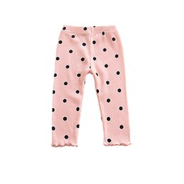 Lace print trousers online shopping - Baby Pants Kids Tights Girls Pants Printing Dot Lace Kids Trousers Kids Clothing Baby Tight Trousers