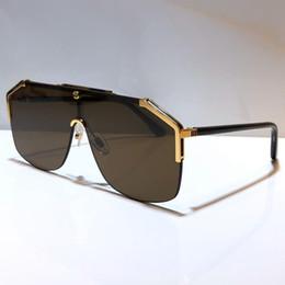 Wholesale women style coat for sale – winter 0291 designer Sunglasses For Men women fashion mask unisex sunglasses Half Frame Coating Mirror Lens Carbon Fiber Legs Summer Style S