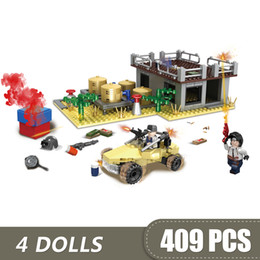 Diy Boys Toys UK - 409PCS Small Building Blocks Compatible with Legoe Game PUBG Desert Waterworks Toys for children girls boys Gift DIY
