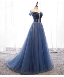 Wholesale twilight princess resale online - 100 real twilight blue beading gown long dress royal princess Medieval Renaissance Victorian dress stage studio