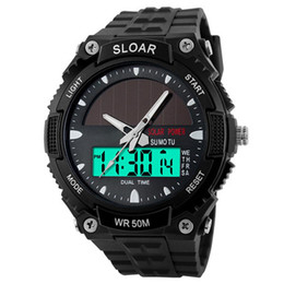 $enCountryForm.capitalKeyWord Australia - 2018 New Men Sports Solar Power Dual Time Display Water Resistant Electronic Wrist Watch sport digital watch montre