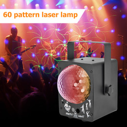 music activated laser light UK - Led Disco Light Stage Lights DJ Disco Ball Sound Activated Laser Projector Effect Lamp Light Music Christmas Party new