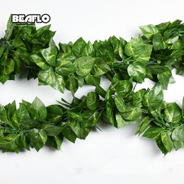 $enCountryForm.capitalKeyWord Australia - 10 Style 1pc Artificial Decoration Vivid Vine Rattan Leaf Vagina Grass Plants Grape Leaves For Home Garden Party Decor B1015 C19040901