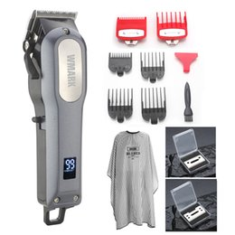 Black Cutters Australia - WMARK LCD Professional Hair cutter Hair Trimmer rechargeable 2000mAh Lithium battery 6500rm Coldless hair clipper free many gift