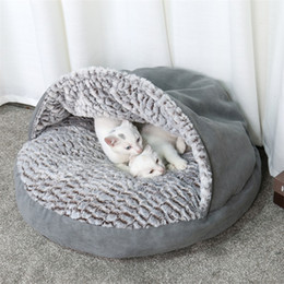Small Houses Designs Australia - Pet Warm Soft Bag Warm Cat Bed House Slipper Design Bed Pet Dog Sofas For Cats Dogs Pets Basket Kennel Tent House Free Shipping