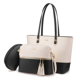 designers handbags for ladies Australia - LOVEVOOK women shoulder bags crossbody bags for ladies large tote bag set 3 pcs clutch and purse luxury handbag women designer MX191216