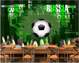 $enCountryForm.capitalKeyWord Australia - WDBH 3d wallpaper custom photo Cartoon football english beer home decor living room 3d wall murals wallpaper for walls 3 d living room