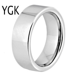 pipes engraving UK - Hot Sales 8MM Width Classic Wedding Band Engagement Rings Silver Pipe Custom Engraving Tungsten Carbide Rings For Women Men V191128