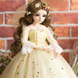 $enCountryForm.capitalKeyWord Australia - 60CM BJD Dolls Hot New Bebe Reborn Makeup Doll With Elegant Maxi Dress Wigs Shoes Hat Beautiful Princess Toys for Girls