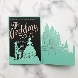 chinese engagement cards UK - 35pcs Wedding Invitation Card Prince And the Princess Happiness Engagements Ceremony Valentine's Day Exquisite Invitation Cards