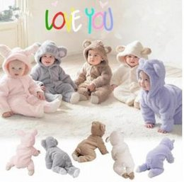 aed54570136 Hooded jumpsuit kids online shopping - Baby Animal Rompers INS Ear Hooded  Jumpsuits Pajamas Cartoon Infant