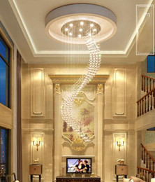 $enCountryForm.capitalKeyWord Australia - Modern Spiral K9 Crystal Chandelier Lighting Stair Duplex Ceiling Pendant Lamp for Dining Room Living Room Bedroom 110-240v