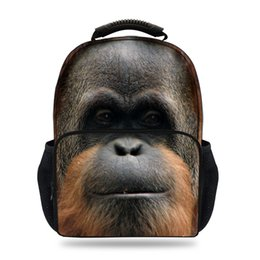 $enCountryForm.capitalKeyWord Australia - 15inch Kids 3D Animal Printing Backpack For Children Gorilla Felt Bag For Girls Boys School