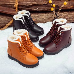 Black Ankle Booties For Women NZ - Plus size 41-44 Black boots women winter shoes women's boots 2019 classic style ankle for woman snow booties warm shoes