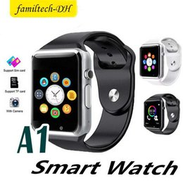 $enCountryForm.capitalKeyWord Australia - A1 Smart Watches Clock With Sim TF Card Slot Camera Bluetooth Bracelet for Ios Android Smart Phone Touch Screen Watch 7 Colors