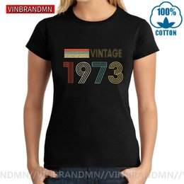 best wholesale t shirts Australia - Vintage 1973 Custom Thanksgiving Day Best Present Tee shirt Classic 47 Years Old Birthday Tshirt Women Mothe's Day Gifts T-shirt