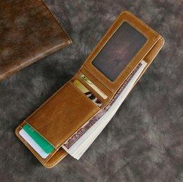 2019 hombres billetera carteras estándar carteras de piel de vaca suave hombres billetera Fold monedero pequeñas carteras bolsa de tarjeta al por mayor corto cuero genuino TP-8287
