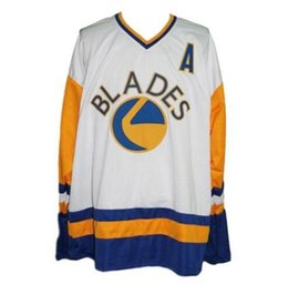 Vintage Saskatoon Blades Hockey Jersey Embroidery Stitched Customize any  number and name Jerseys e39b143f5