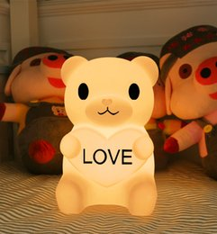 $enCountryForm.capitalKeyWord Australia - RGBW Color Changing Lovly Cartoon Bear LED Night Light Baby Room Kids Bed with inductor charge
