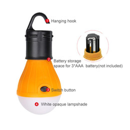 Saving Bulbs Australia - 1pcs Soft Light Outdoor Hanging LED Camping Tent Light Bulb Fishing Lantern Lamp Portable Energy Saving Lamp powered AAA battery