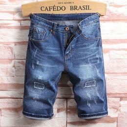 Discount short ripped jeans for men - 2019 Summer New Men Jeans Shorts,Blue Colors Jeans Shorts Men,Fashion Designer Short Ripped For Men,Men Pants!A509