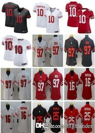 Football David Australia - San Francisco Women 49ers 10 Jimmy Garoppolo Jersey 97 Nick Bosa Football 25 Jimmie Ward 56 Reuben Foster 16 Joe Montana Lady Womans