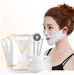 face shaping tool Australia - 4D Double V Face Shape Tension Firming Mask Paper Slimming Eliminate Edema Lifting Firming Thin Masseter Face Care Tool
