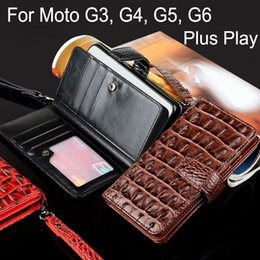 $enCountryForm.capitalKeyWord NZ - wholesale for Motorola moto g3 g4 g5 g6 plus play Luxury Wallet Cases Crocodile Snake Leather Flip cover Business style fundas capa