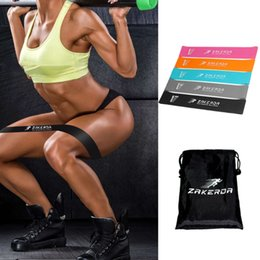 Gym rope pullinG online shopping - 5pcs Fitness Gum Resistance Band Rubber Gym Yoga Workout Tension Loops Sport Bodybuilding Muscle Training Tools